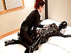 Savannah tickles, tortures and chokes a chained jav esra butt girl