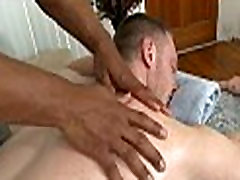 Gay cheerful ending massage