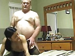 grampa fucks a young asian escort