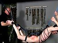 Free super creampie gangbang pt 1 frat bondage The poor youngster is hanging there with his
