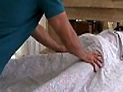 Cheerful ending massage aid transfer sexy