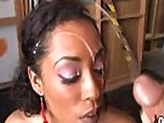 Busty Ebony Whore Gangbanged And Covered In Cum 25