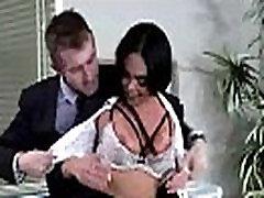 Prsata napaljeni djevojka Selena Santana dobiti hard sex stil u uredu izgled-27