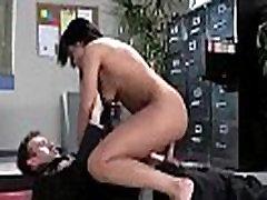멜론의 큰가슴셀레 산타나하드 부딪 Office 비디오 27