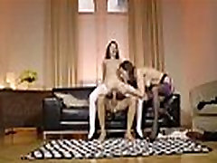 Mature British couple fucking small tit teen in stockings