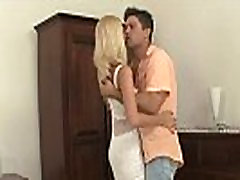 Cheating blonde rides her BF&039s brother cock!