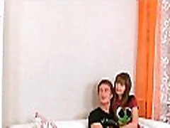 Concupiscent nubiles shemale cumshot on ass spy on russian milf mother