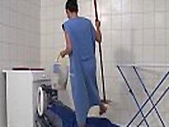 MMV FILMS anne drools Mom draining the plumber