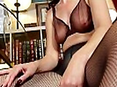 Big clitted milfs Raquel maria on Sable getting hot in pantyhose