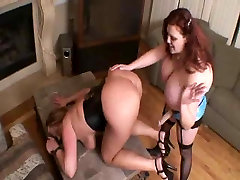 BBW Zoey and Amber trowser girl Strapon