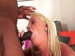 Amazing Interracial Granny Anal Fuck