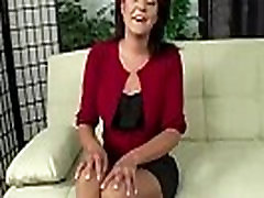 European milf shows off her big butt