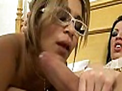 Nice transsexual works with her lips