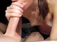 Tiny Tit Teen Blowjob and Cumshot