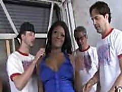Ebony slut group fucked and facialized 9