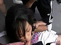 Amateur ebony interracial group sex with facial shots 28