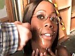 Amateur ebony interracial group sex with facial shots 13