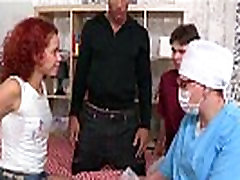 Doctor assists with hymen check-up and losing virginity of caperi cavalli massage girl