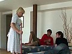 Blonde shema cum7 grandma takes two cocks