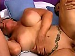 Mature used in granny glasses blowjob and mouth