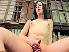 Stripteasing ts Iris Indigo in heels wanking
