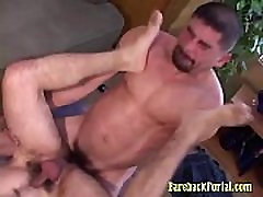 Hairy Man Licked & Anal Fucked