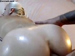 Sexy ass tattooed woman gets fucked on her Webcam