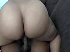 Nice black gal looks cute on cock
