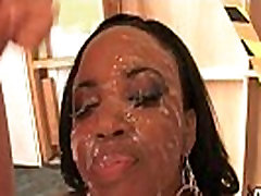 Busty Ebony Whore Gangbanged And Covered In Cum 9
