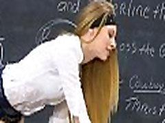 Posh schoolgirl gets jock