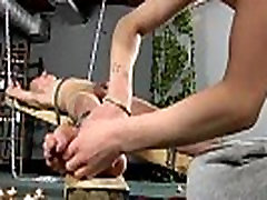Gay porn sample clip Dean gets tickled, scorching wax poured over his