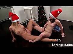 Shy Angela - son black male mom fuck guy bww Christmas fun