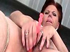 Mature BBW masturbating pussy with beads