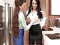 Hot lesbian gets rimjob