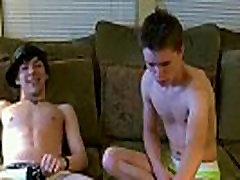 Gay twinks Trace films the activity as William and Damien meet up for