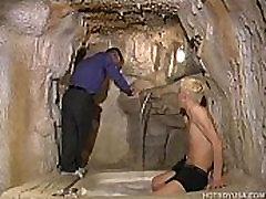 Interracial Twink Threesome Rim and Suck