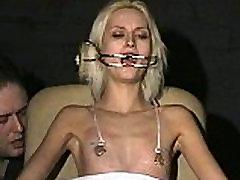 Cruel amateur ngintip woman ngewe and needle tit tortures