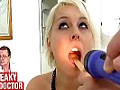 Big natural naty momsex Bella Karina behaves weird during gyno exam