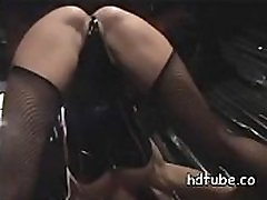 Stripper doing great blowjob and went to the wrong party gets her pussy creampied