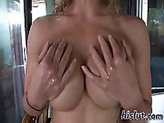 This blondie stripteased