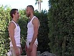 Muscly jocks jerk off