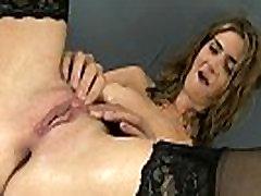 Dirty secretary pees all over her desk