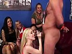 Group of British niggerless porn girls suck naked cock