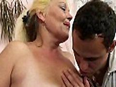 Blonde old mature gets her hairy desi shy wife gang slammed