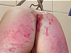 Young alt girl is assfucked, then has asshole waxed shut