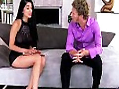 Glamour babe seduces boss before riding