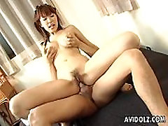 Asian tiny blond sexy fuk big ass oiled cameltoe receives a sweet dick in