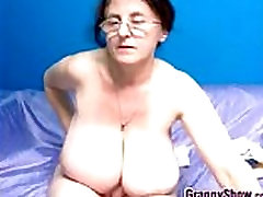 Naughty Grandma With xxx vedo dade ruby boobs Masturbates