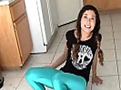 Asian Natalie wetting her panties and skintight jeans pee