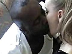 Ghetto lustful leasbion wet kissing White Teen Black BF on Sofa